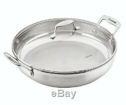 NEW Scanpan Impact 18/10 Stainless Steel Covered Chef Pan 32cm with Lid, Induction