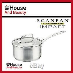 NEW Scanpan Impact 5pc Cookware 2xSet Saucepan+Casserole+Steamer+Fry Pan 22035
