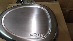 NOS New Surplus Army Hospital Vollrath Stainless Steel Bed Pan Bedpan bed pan