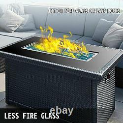 Natural Gas Fire Pit Burner Drop In Pan 32x 12 Propane Square Durable