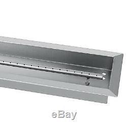 Natural Gas Fire Pit Burner Pan 8 Sizes Table Top Stainless Steel Outdoor BBQ
