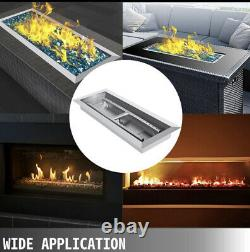 Natural Gas Fire Pit Pan Burner Fire Pit Burner 20x8 In Stainless Steel Hot Item