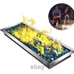 Natural Gas Fire Pit Pan Burner Stainless Steel Natural Gas 24x8 Inch