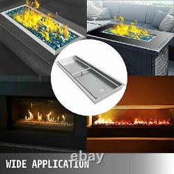 Natural Gas Fire Pit Pan Drop In 50.5x16.5 Stainless Steel Drop In 108000 BTUS