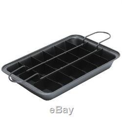 New 18 Portions Brownies Maker Bake Tray Tin Pan Set Ultimate Cake Baking Kit