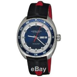 New Hamilton American Classic Pan Europ Auto Blue Dial Men's Watch H35405741