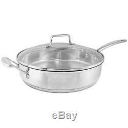 New Scanpan Impact Stainless Steel Covered Saute Pan 28cm 3.2L Induction Save
