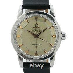 Omega Constellation 505 Movement 2492-1 Pie Pan Rose Gold Dial 34mm