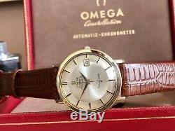Omega Constellation Automatic Jumbo 36mm Pie Pan Steel vintage mens watch + Box