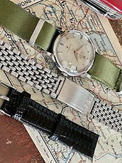 Omega Constellation Automatic Pie Pan vintage Nato Rice Bracelet mens 1959 watch