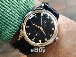 Omega Constellation Black Dial Pie Pan Steel vintage mens 1954 retro watch + Box