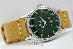 Omega Constellation Chronometer Automatic Pie Pan Dial Hulk Green Mens Watch