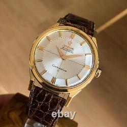 Omega Constellation Pie Pan 14900 Cal 551 1962 Unpolished 18k Yellow Gold 34 mm