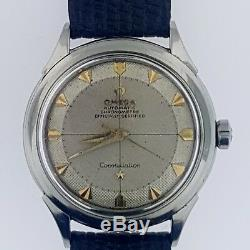 Omega Constellation Pie Pan Arrowhead Textured Dial # 354 Bumper Steel1956WOW