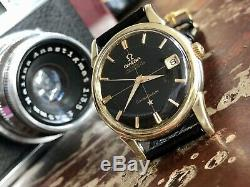 Omega Constellation Pie Pan Automatic Date vintage mens 1961 gold watch + Box