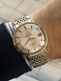 Omega Constellation Pie Pan Automatic Gold Capped vintage mens 1963 watch + Box
