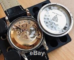 Omega Constellation Pie Pan Black Dial Steel vintage mens 1961 watch + Box