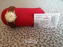 Omega Constellation Pie Pan Gold Capped 1963