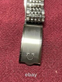 Omega Constellation Pie Pan Wrist Watch With Beads of Rice Band