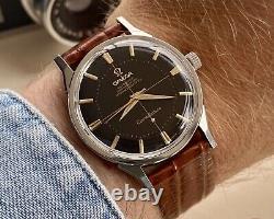 Omega Constellation Steel Pie Pan Black Dial Vintage Mens Automatic 1963 watch
