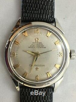 Omega Constellation Watch with Pie Pan Dial cal 354 Bumper Auto Mvmt Signed 5X