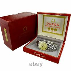 Omega Constellation'pie-pan' Steel Automatic Wristwatch With Box 1966