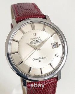 Omega Hidden Crown Constellation Pie Pan Calendar Auto Cal. 561 Dating To 1966
