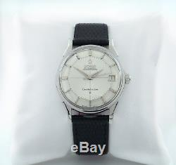 Omega Men Stainless Steel Constellation Pie Pan Dial Calibre 561 Leather Band