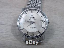 Omega Pie Pan Constellation Men's Watch Beads of Rice Band