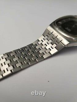 Omega deville quartz cal1332 pie pan style black dial Men watch