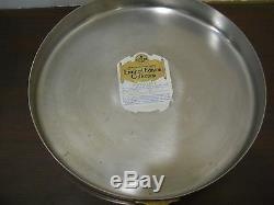 PAUL REVERE WARE 12 Solid Copper Stainless Steel Crepe Souffle Flat Bottom Pan