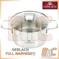 Pan Set GERLACH Brava set of pots (8 elements) Electric Gas Hob Easy Clean