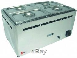 Parry BMF1/1G Natural or Propane Gas Wet Heat Bain Marie with Pans (Boxed New)