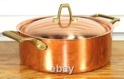 Paul Revere Ware USA Solid Copper Pot 2 QT Buffet Sauce Pan Bicentennial ED VTG