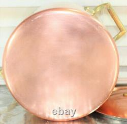 Paul Revere Ware USA Solid Copper Pot 4 QT Tall Large Limited ED Buffet Pan VTG