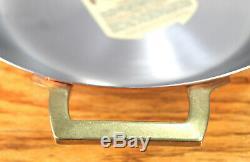 Paul Revere Ware USA Solid Copper Pot Round Wok Skillet Fry Pan Signature VTG
