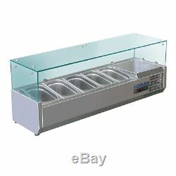 Polar Refrigerated Counter Top Made of Stainless Steel Fitting 5 Pans