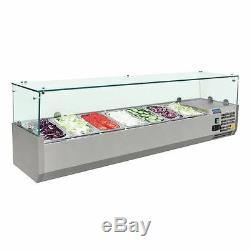 Polar Refrigerated Counter Top Made of Stainless Steel Fitting 7 Pans