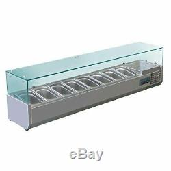 Polar Refrigerated Counter Top Made of Stainless Steel Fitting 8 Pans