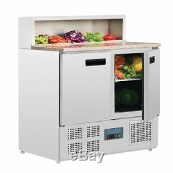 Polar Refrigerated Pizza and Salad Prep Countertop Fitting 5 Pans 288L