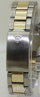 Rare 1975 Rolex Steel & 18K Gold Oyster Perpetual Datejust 1600 Pie Pan Dial