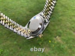 Rolex Datejust 1601/3 14k Gold & Stainless, Boxed, Pie Pan, 1976, Excellent