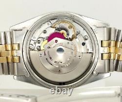 Rolex Datejust 1601 Jubilee 36mm Gold Smooth Bezel Pie-Pan 1972