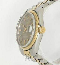 Rolex Datejust Two Tone 1601 36mm 18k Gold bezel Pie-Pan 1970