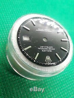 Rolex Men's Datejust 36mm Black Dial Pie Pan Stick Jubilee Oyster Ref 1601 1603