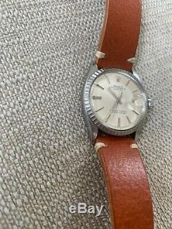 Rolex Oyster Perpetual Datejust 1603 Vintage 1967 Non Quickset Pie Pan Dial