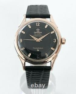 Rose Gold Omega Constellation Pie Pan Black Dial Auto Cal. 505 Dating To 1958