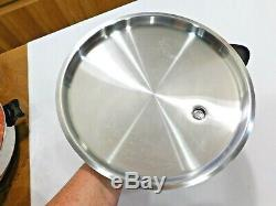 SALADMASTER 12 Electric Skillet Fry Pan STAINLESS STEEL Liquid Core SA012OCU
