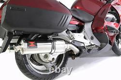 ST1300 Pan European 2002/2017 (SC51) Exhaust Silencers Oval Stainless 400SS