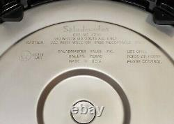 Saladmaster 12 Stainless Electric Skillet Fry Pan #7256 with Vapo Lid 1150 Watts
